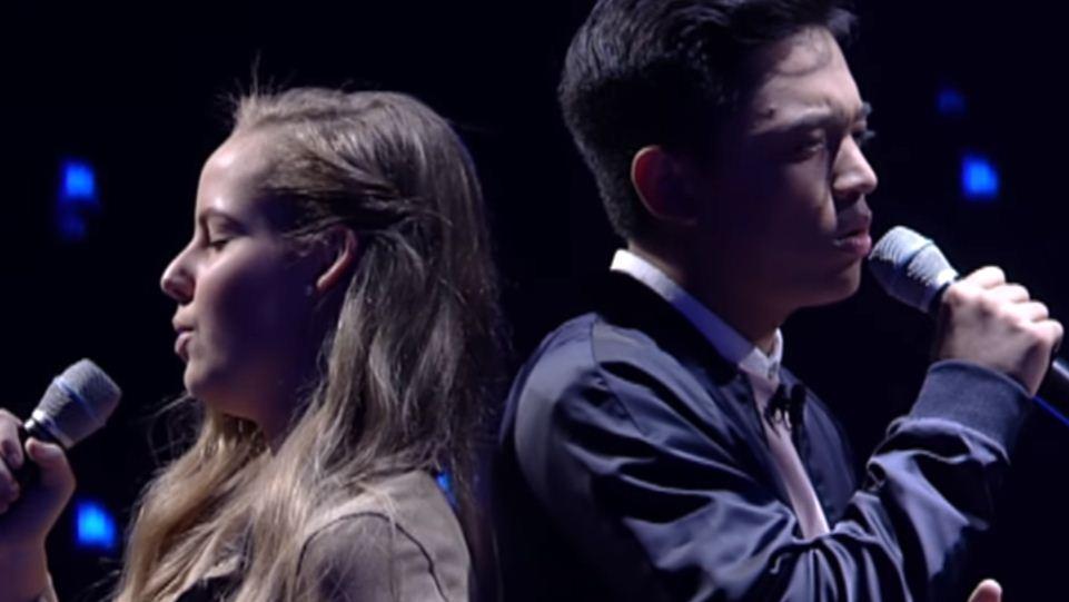 "Heather vs  Jeremy sings ""Sana Mailit Muli"" with Heartfelt"
