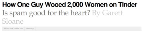 TinderHacks: Woo 2000 women on Tinder
