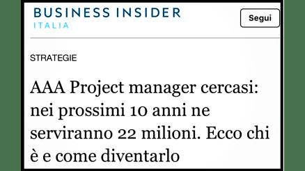 Project Manager Business Insider 1 1024x576 - Ecco il Lavoro più Bello, Cercato e Pagato del 2020.