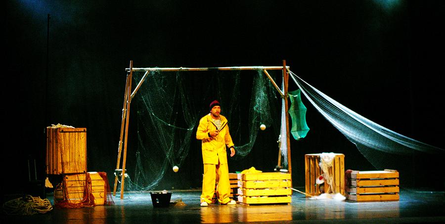 spectacle, pêche, mer, le ciré jaune