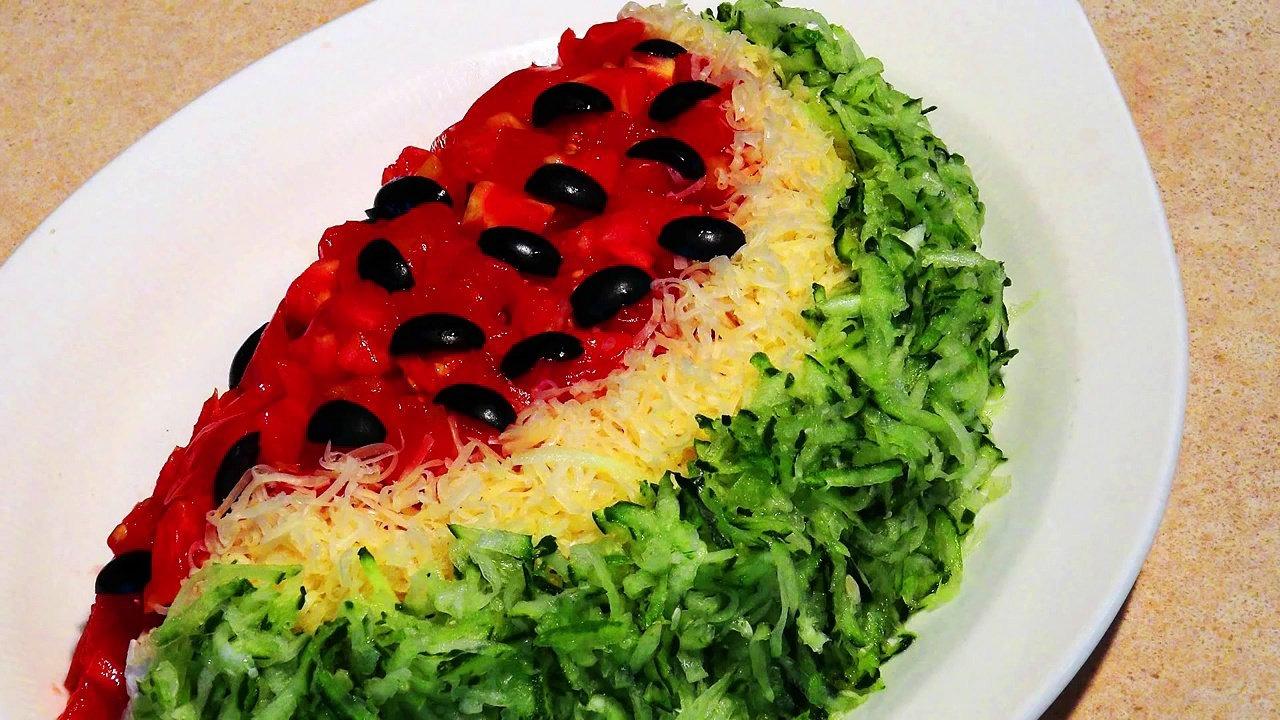 Салат арбузная корка рецепт с фото