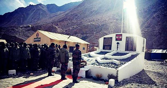 गलवान घाटी में जान गंवाने वाले 20 भारतीय सैनिकों याद में युद्ध स्मारक बनाया गया