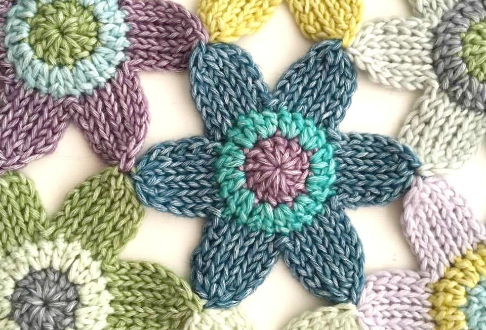 Tunisian Flower Blanket