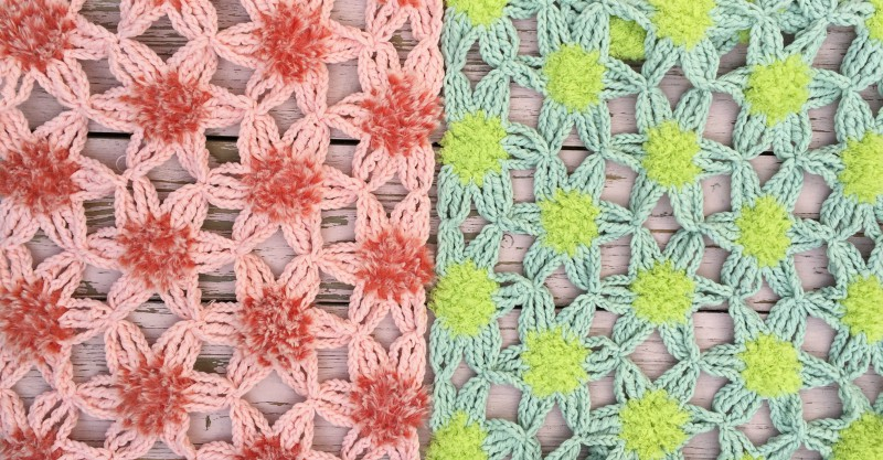 Furry Flower Shawl crochet pattern