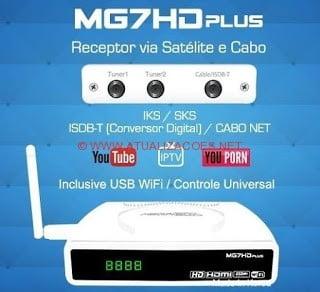Atualização MegaBox MG7 HD Plus V164 Abril