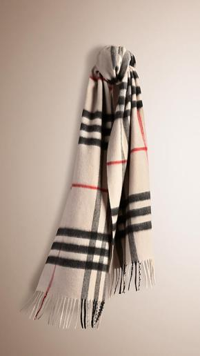 Burberry Scarf - Stone Check