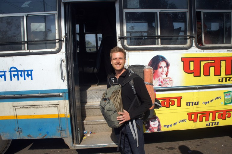 hopping on a bus India