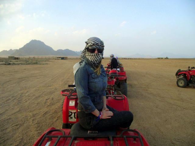Riding a quad in Egypt