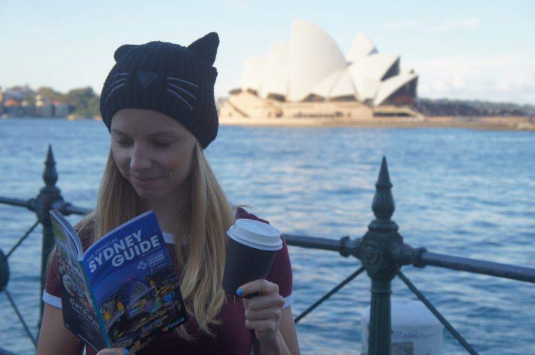 A girl in Sydney