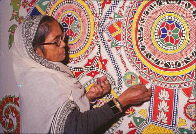 गंगा देवी: एक भारतीय मधुबनी चित्रकला की प्रमुख कलाकार