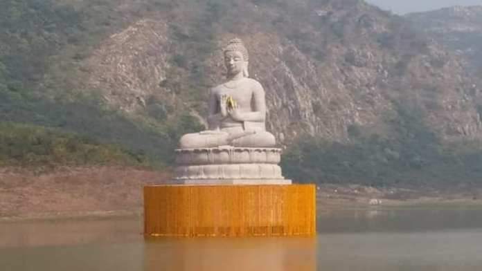 The 70-foot tall statue of Lord Buddha unveiled in Rajgir, the five hills will be connected with the ropeway.