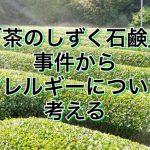 植物性なのに危険!?「茶のしずく石鹸」事件からアレルギーについて考える