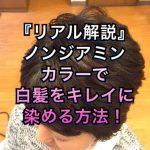 『リアル解説』ノンジアミンカラーで白髪をキレイに染める方法!