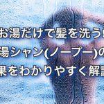 お湯だけで髪を洗う!?湯シャン(ノープー)の効果をわかりやすく解説!