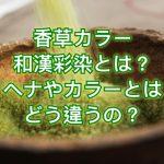 香草カラーや和漢彩染とは?ヘナやカラーとはどう違うの?