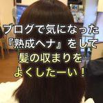 ブログで気になった『熟成ヘナ』をして髪の収まりをよくしたーい!