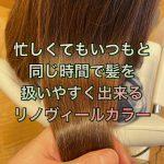 忙しくてもいつもと同じ時間で髪を扱いやすく出来るリノヴィールカラー