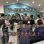 アライフ青木さんの「ヘナスクーパを使ったヘナ&インディゴ(藍)セミナー」に参加してきたよ!