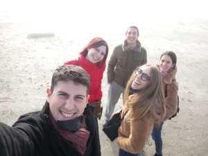 al mare con gli amici