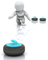 Curling at ATV during the Winter Olympics