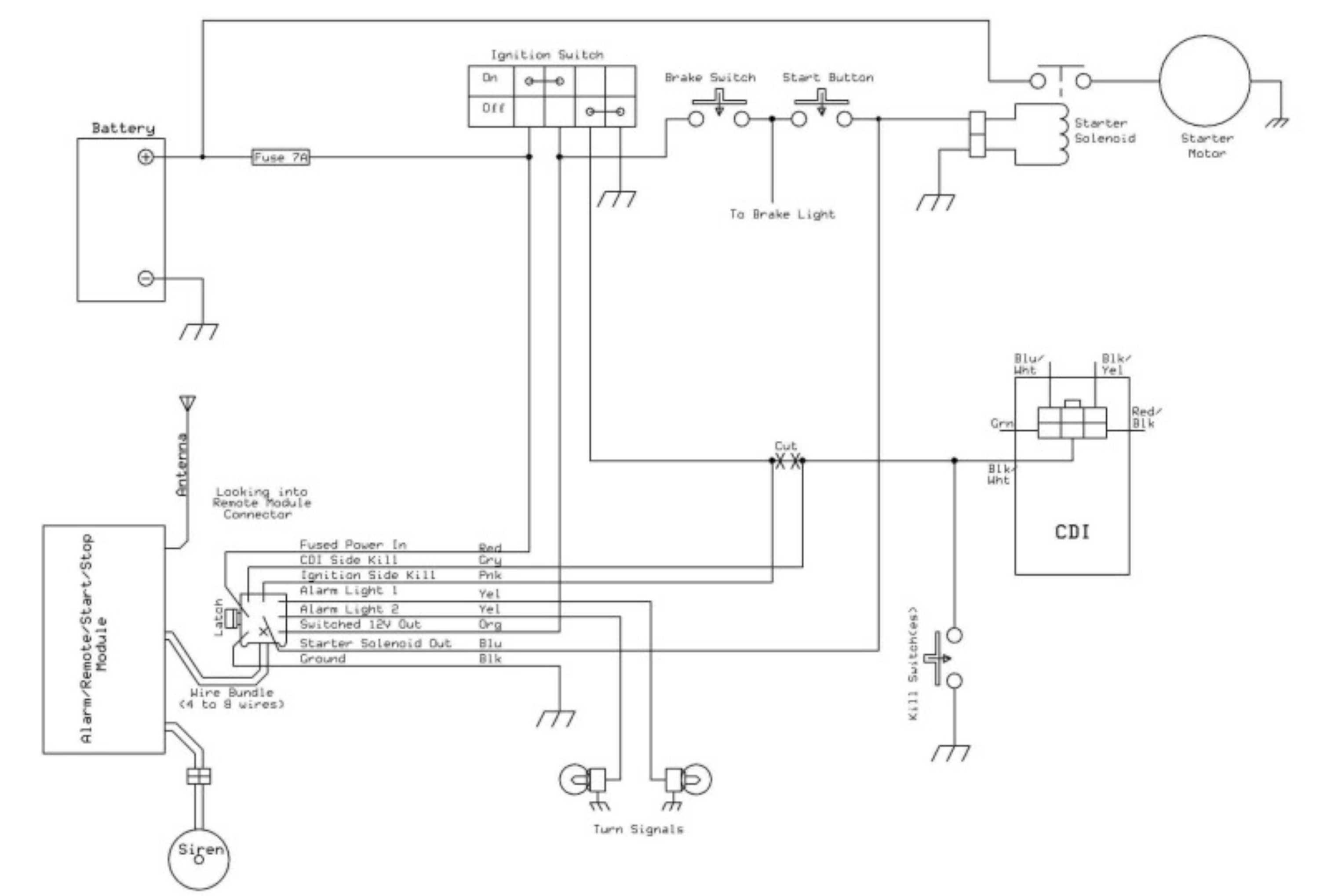 Motorcycle Remote Start Wiring Diagram Schematics Viper 4103 How To Install A Starter On Motorssite Org Avital