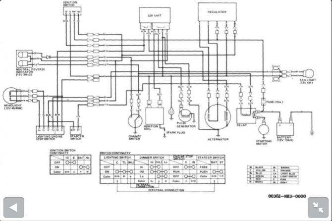 key switch wiring diagram 1989 300 fourtrax  hella light