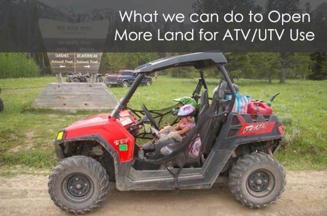 atv or utv use on public land