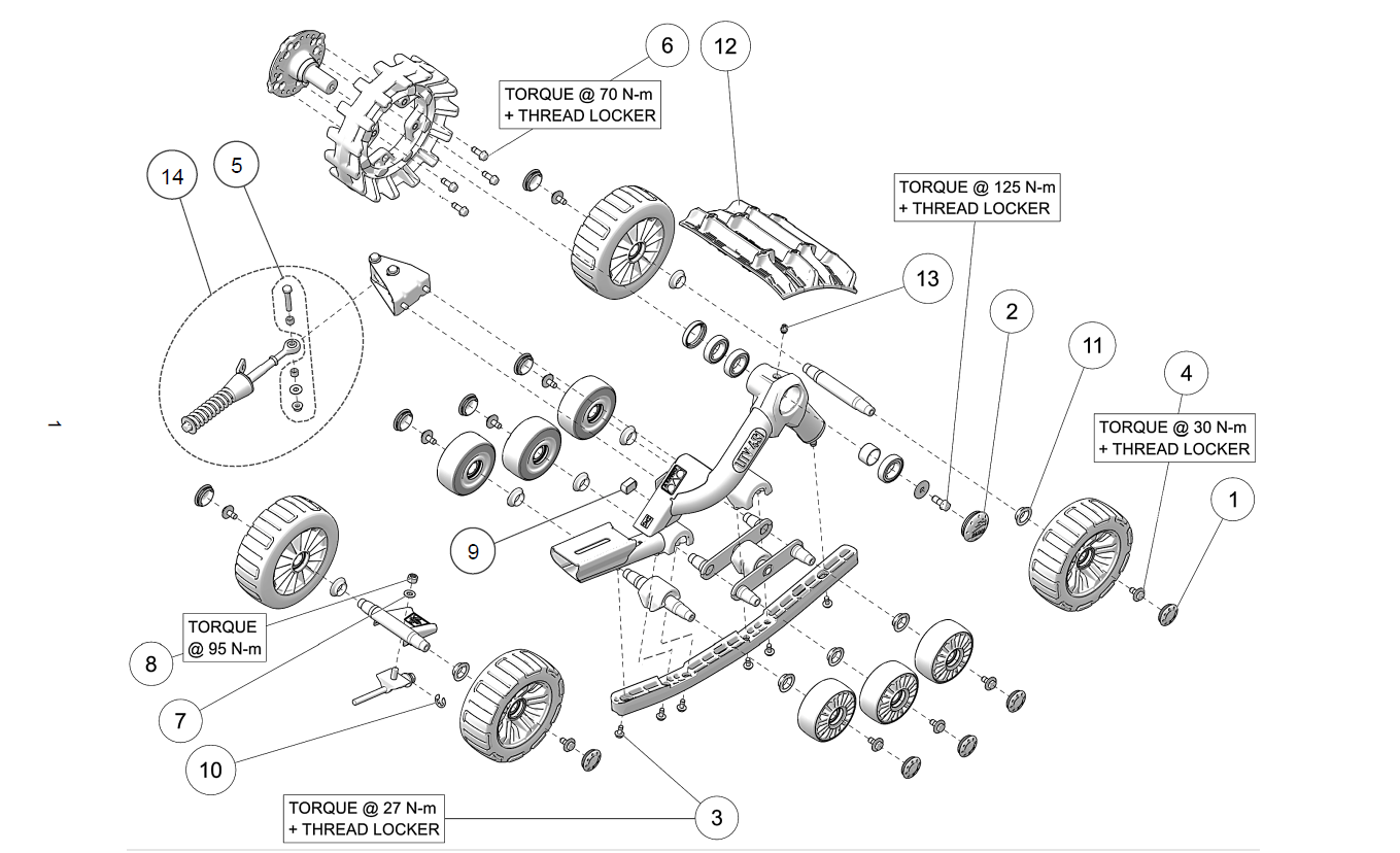 Camso Utv 4s1 Front Left Amp Right Parts List