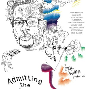 """Admitting the Endorphin Addiction"" single art - Open Mike Eagle & Paul White"