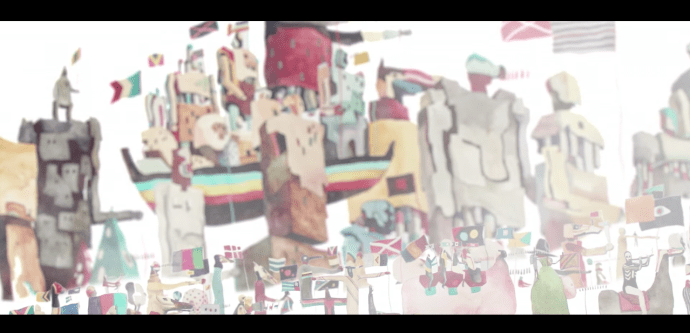 "Screenshot from Young the Giant's ""Amerika"" visualizer"