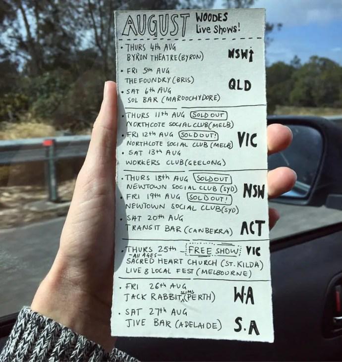 Woodes Tour 2016