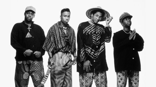 A Tribe Called Quest (left to right): Ali Shaheed Muhammad, Jarobi White, Q-Tip and Phife Dawg © Aristos Marcopoulos