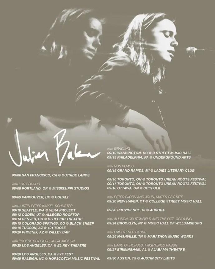 Julien Baker Tour 2017 poster