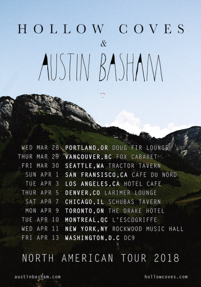Austin Basham & Hollow Coves 2018 tour dates