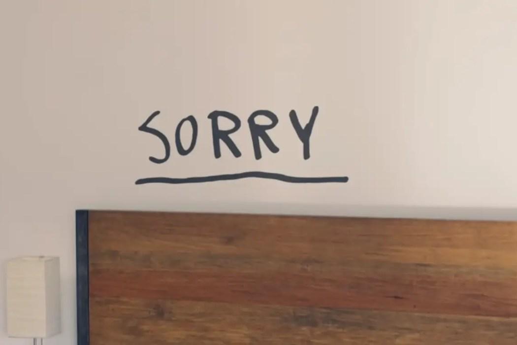 Sorry lyric video screenshot © 2019