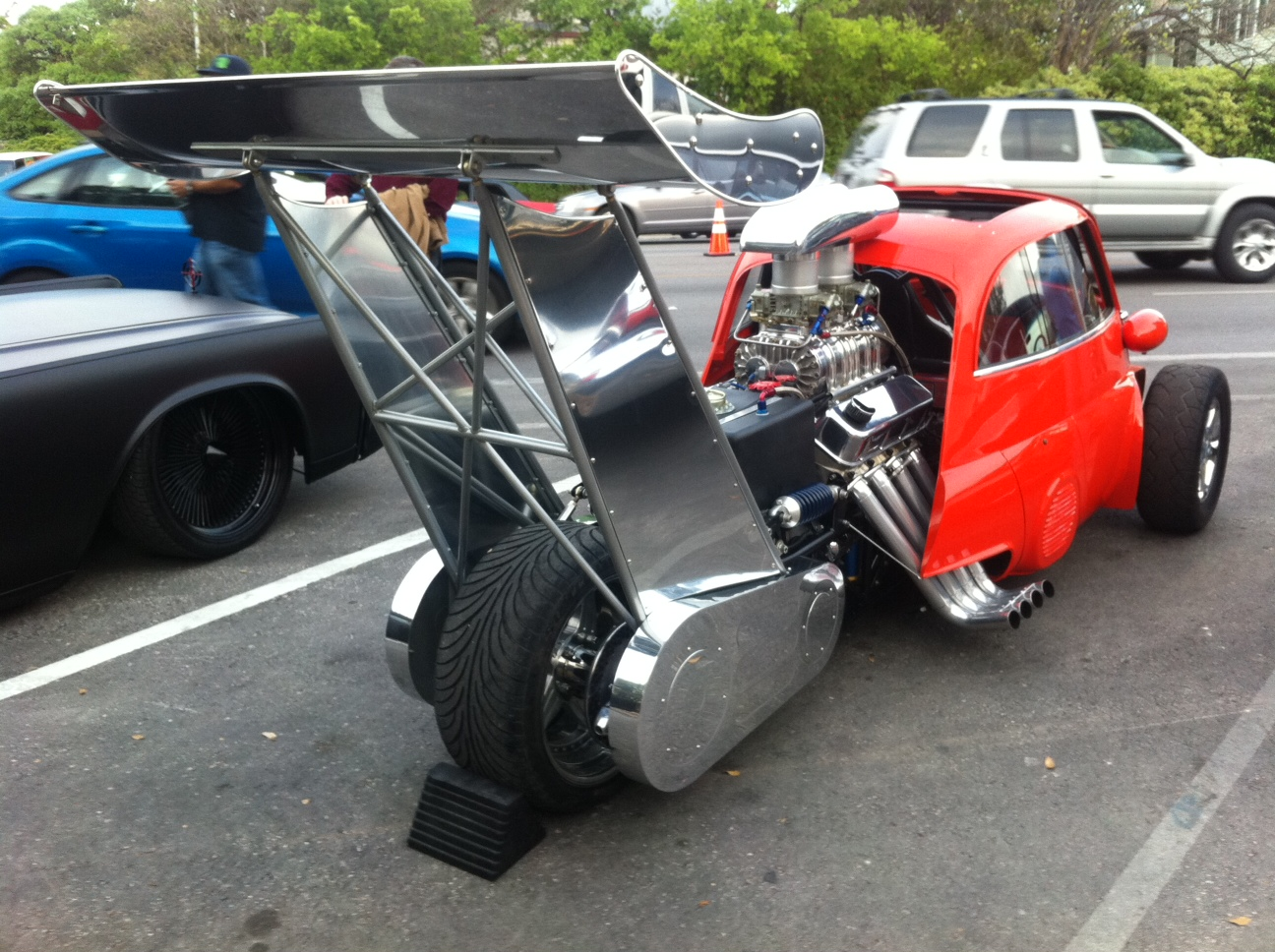 Craziest Hot Rod Ever, at Lonestar Round Up: Isetta Dragster
