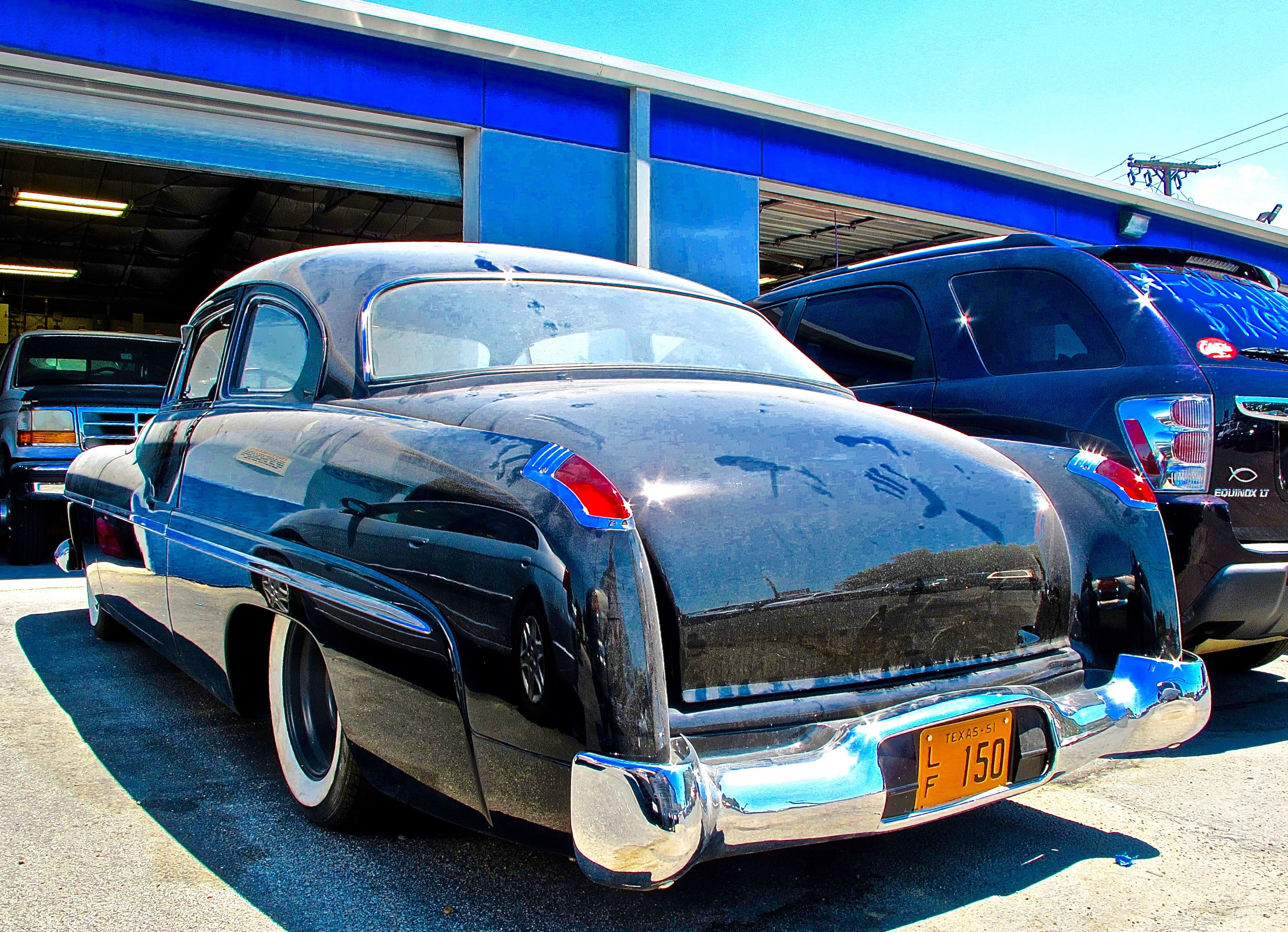 Mercury Atx Car Pictures Real Pics From Austin Tx Streets 1950 Tail Lights Front Bumper 1949 With Bags To Lift It Off The Road Seats Are A Lincoln Cosmopolitan Upholstered By Sean Johnston