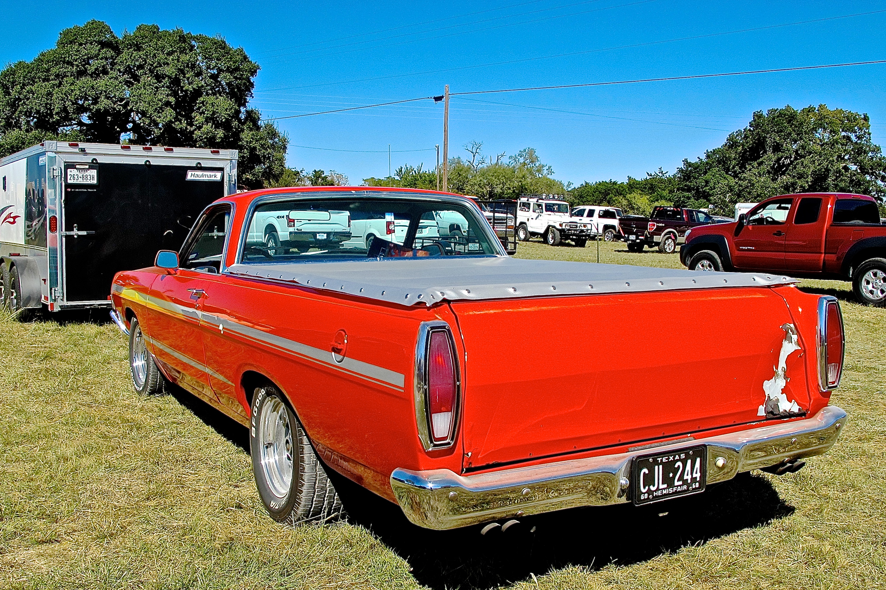 1968 ford ranchero at luckenbach motorcycle show atx car. Black Bedroom Furniture Sets. Home Design Ideas