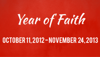 The Year of Faith is 5 Months Away!