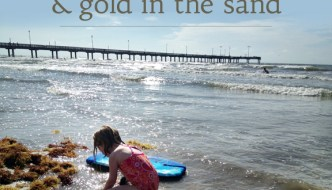on Tolstoy, summer and gold in the sand