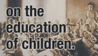 on the education of children