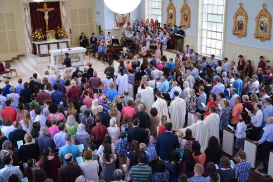 Fr. David. Last mass as pastor of St. Mary's