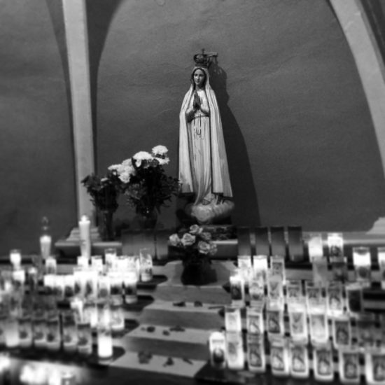 Marian Grotto outside San José Catholic Church (photo by me, on instagram)