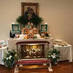 A traditional St. Joseph altar in the Brazos Valley