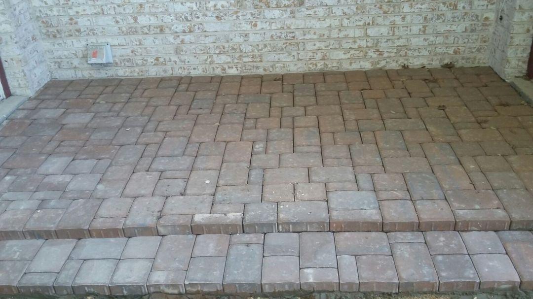 Brick walkway in austin,Texas