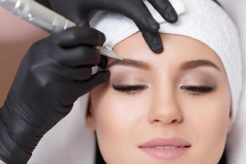 68835059 - permanent makeup. tattooing of eyebrows