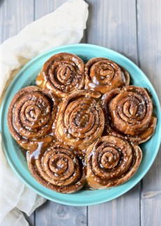 Whole-wheat cinnamon rolls