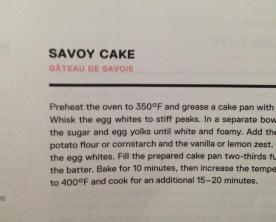 Savoy not Genoise