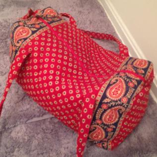 Repurposed Vera Bradly small duffle