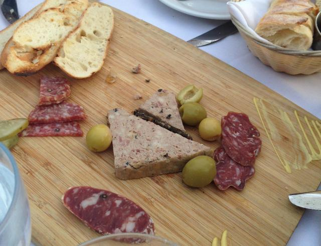 Sips more charcuterie